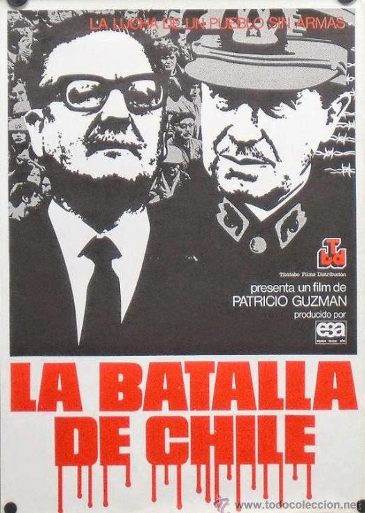 Ad for a film on political tensions between left and right in Chile, early 1970s