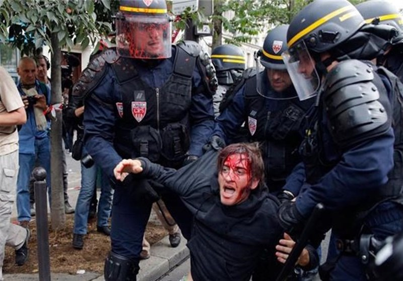 Labor protest, France, 2016