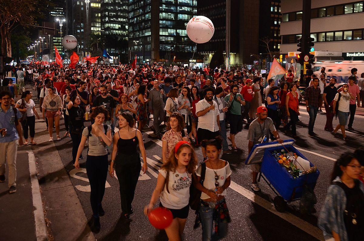 Protest against Brazilian President Michel Temer