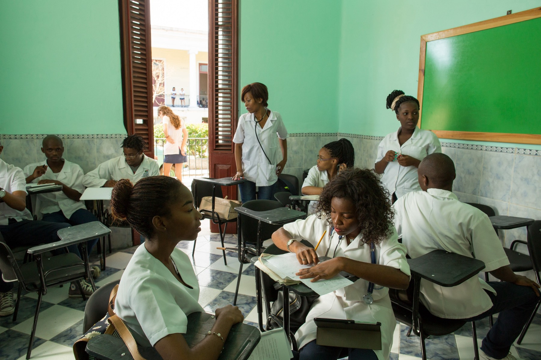 Cuban Medical Students, Havana