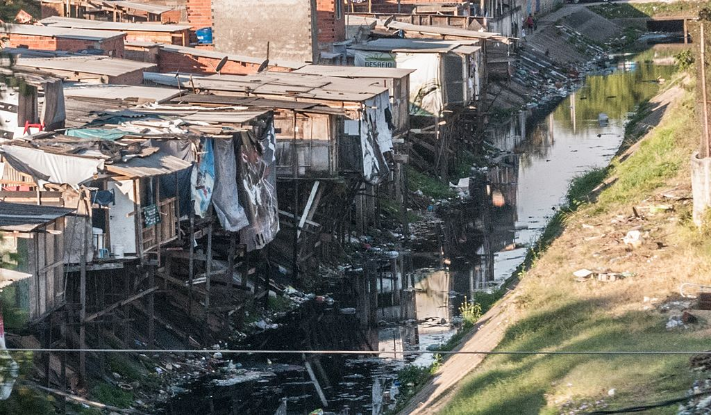 Slum near Sao Paulo Brazil