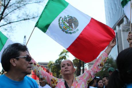 Protest against Donald Trump, Mexico City, 2017
