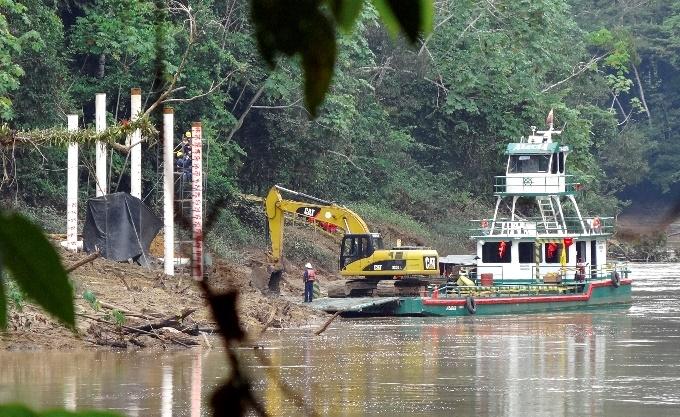 Preparation for drilling in the Ecuadorian Amazon