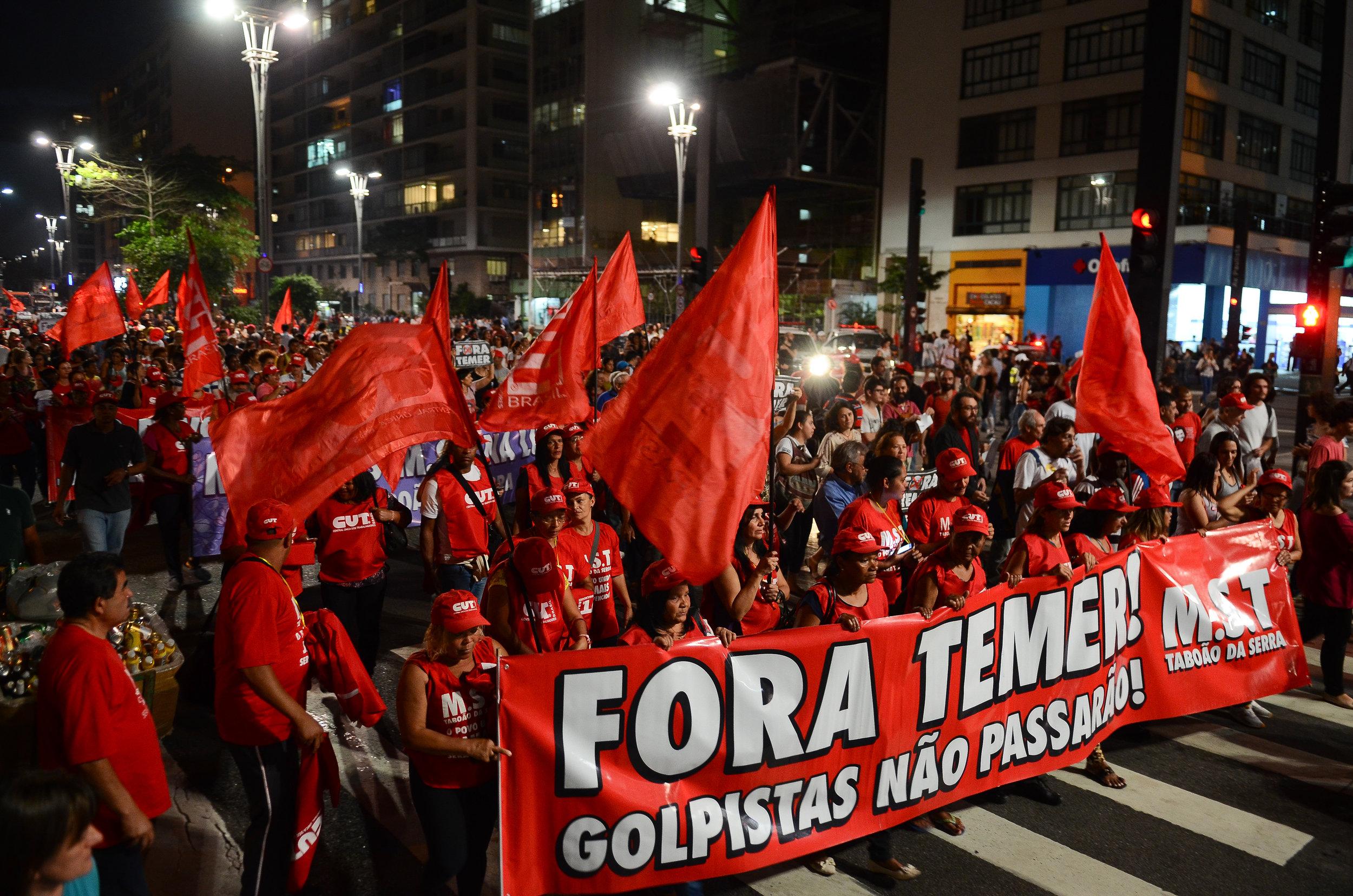 Protest against President Michel Temer