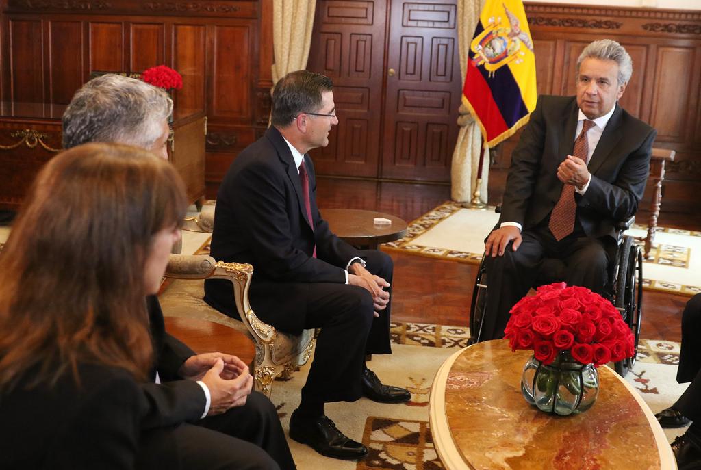 Ecuador's President Luis Moreno meeting with business
