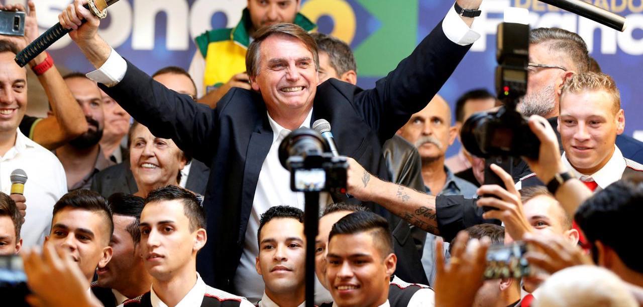 Jair Bolsonaro and supporters