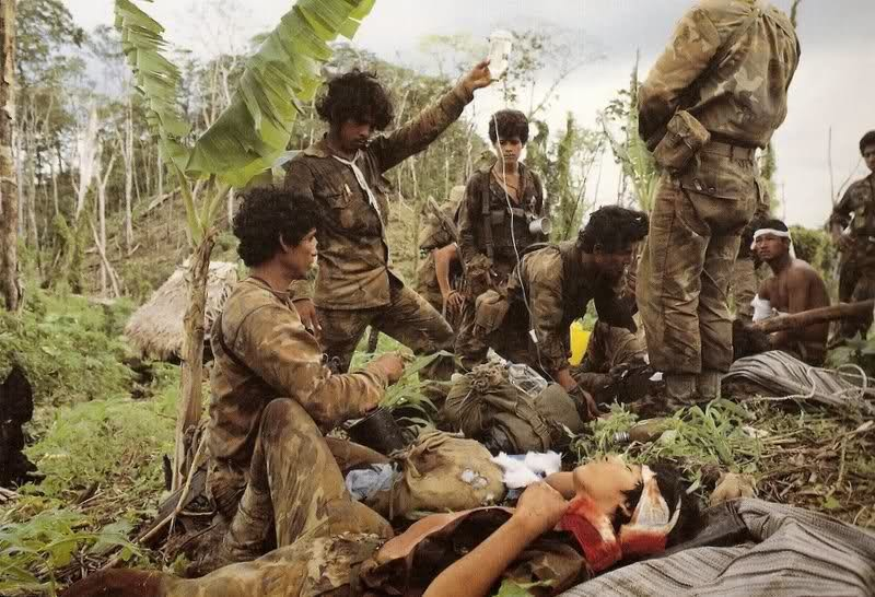 Contra guerrilla base in Honduras