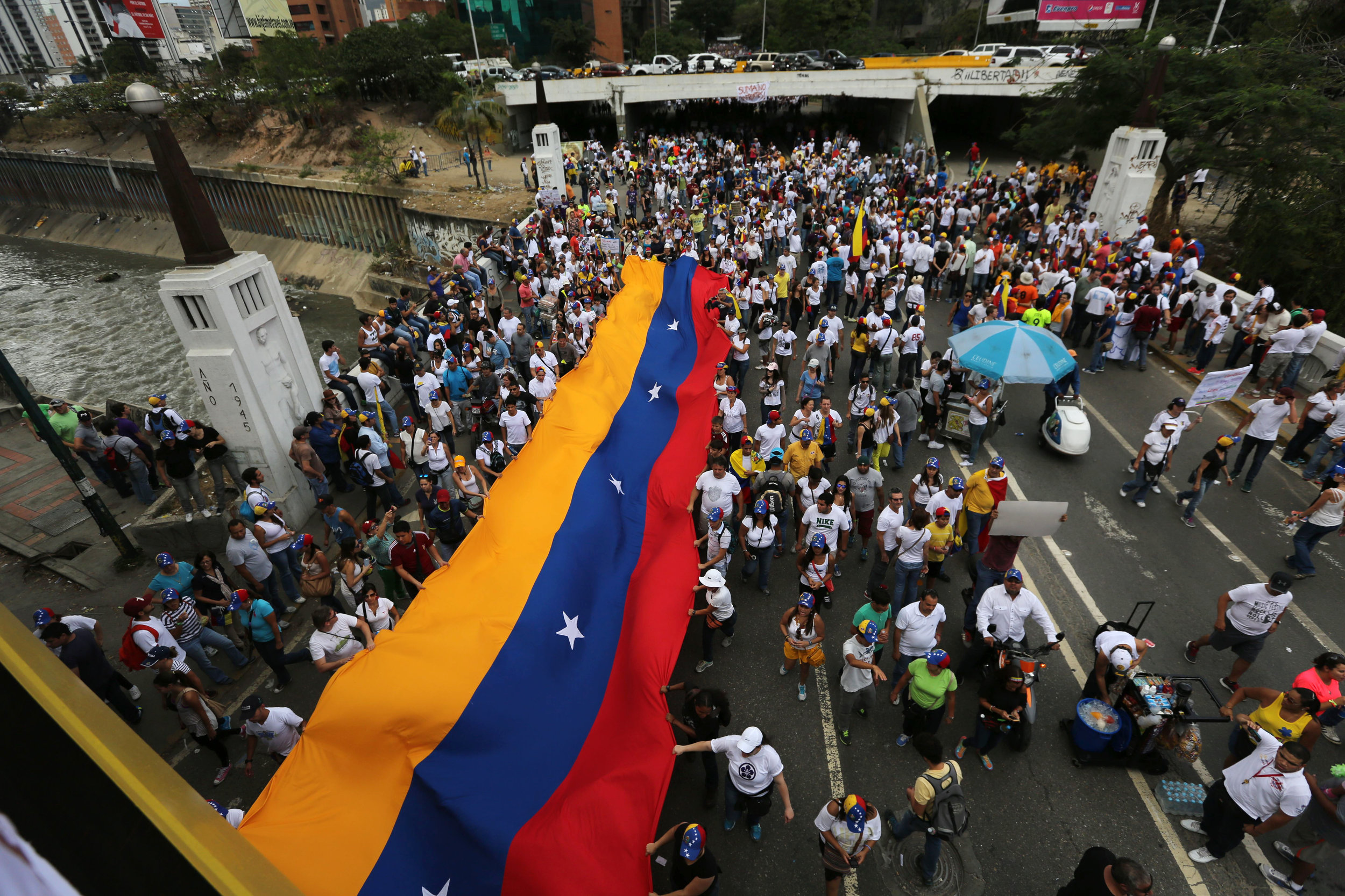 Opposition rally against Maduro