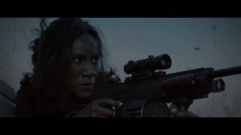 (Still from Category 5) Moyo Akande as Jaqi