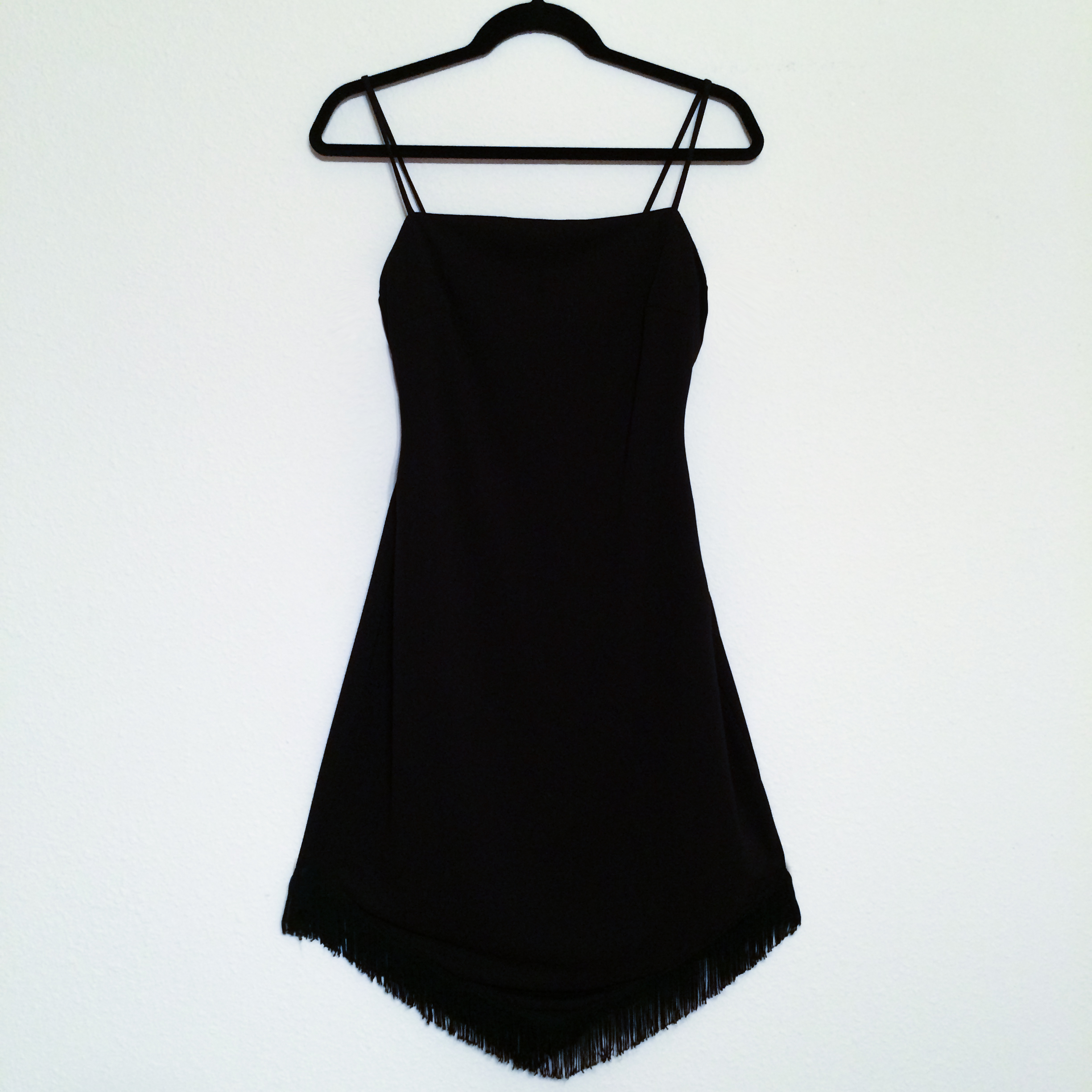 Dress - Black Fringe