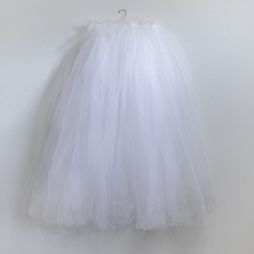 Skirt - White Tulle