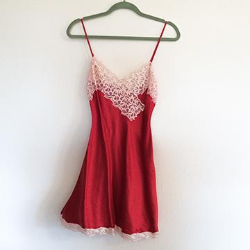 Boudoir - Red Silk Chemise
