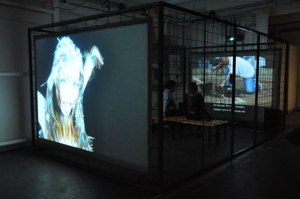 "Lilibeth Cuenca Rasmussen ""Cock Fight"" Installation P-Noise 2015 Dansehallerne"