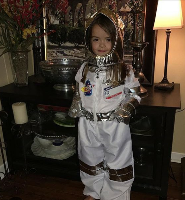 Her grandma told me that MC wasn't sure if she should wear her new space suit if she wasn't actually In Space!  Gah!!!  How Sweet is that??