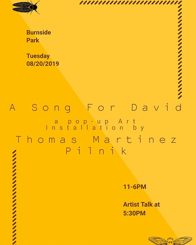 Come support my Summer Artist-in-Residence @tmpilnik at Burnside Park today for his artist installation & performance at #burnsidepark in #providencerhodeisland.  TODAY 11a-6p! Woohoo! . So proud of you @tmpilnik !! . . . . . @DesignIsRI #DesignisRI #DesignIsRhodeIsland @designxri #DESIGNxRI #emergingartist #WarrenRI #riart #providenceart #providenceevents