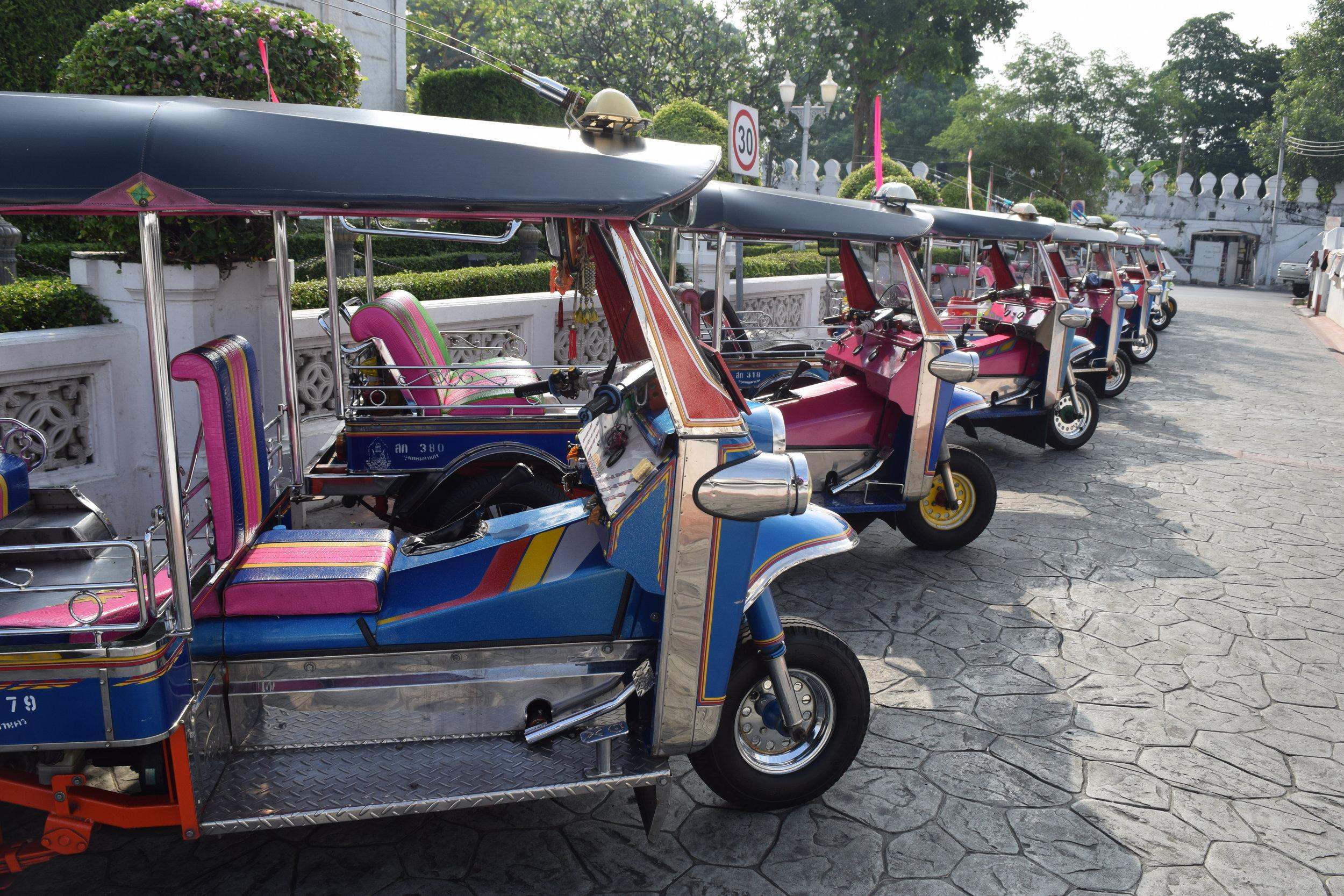 I famigerati Tuk Tuk di Bangkok.