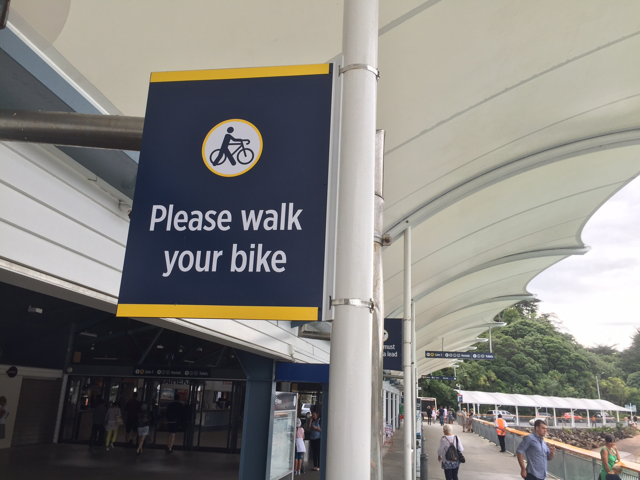 I've heard of dog walking, cat walking, even goat walking but bike walking???
