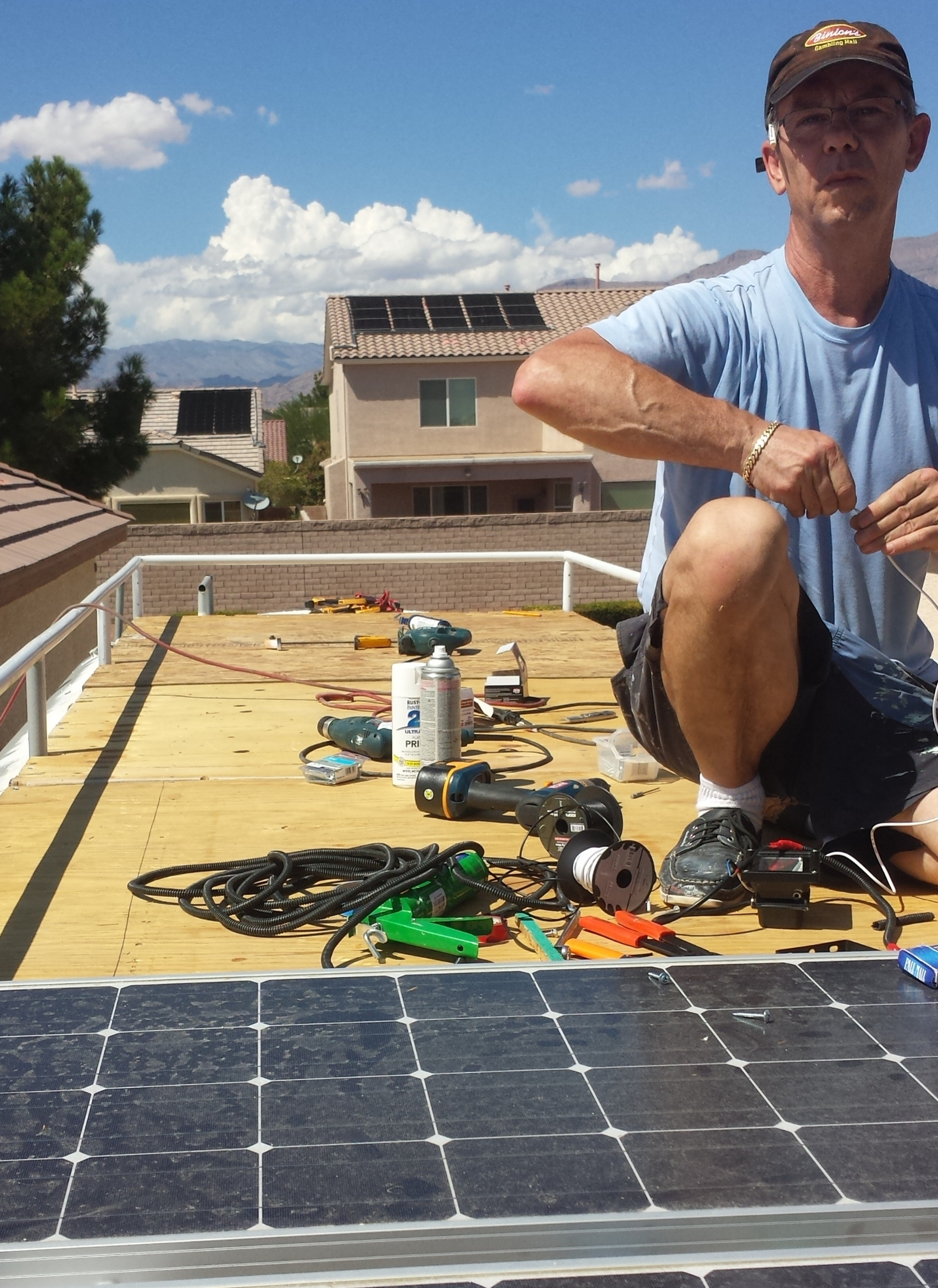 Roof Deck and Solar Panels -