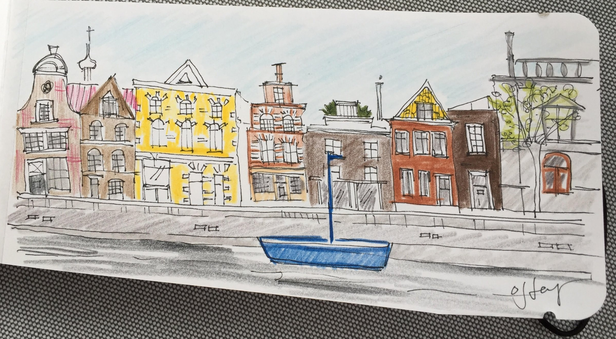. . . Haarlem's canals . . .