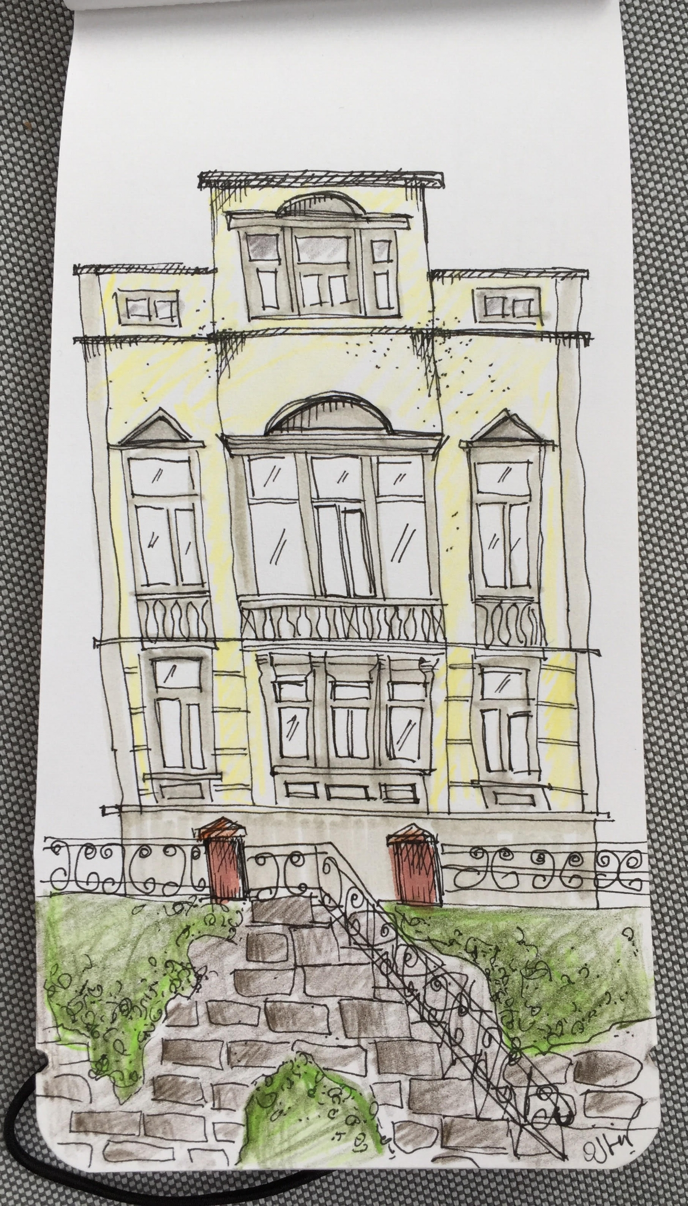 . . . sketched from an image after a coffee break in Giessen, Germany . . .