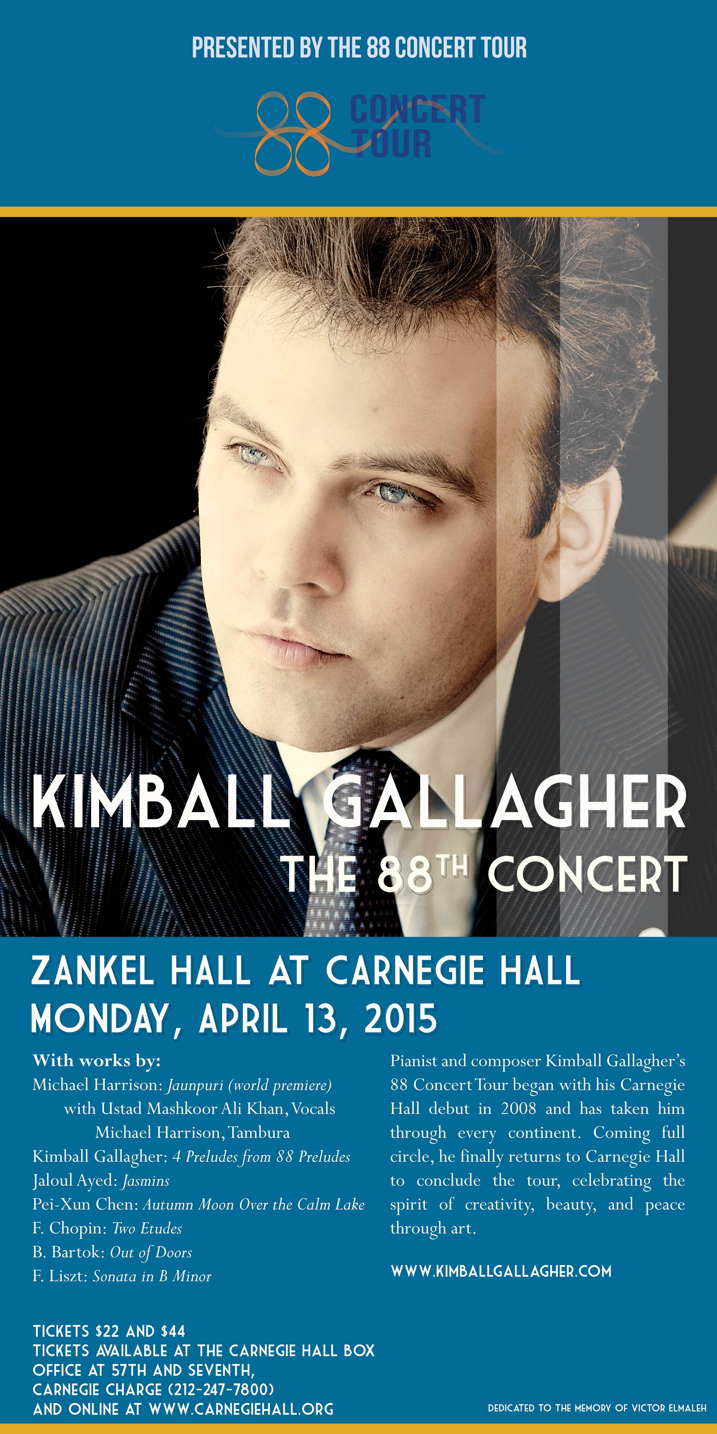 Kimball Gallagher at Carnegie Hall