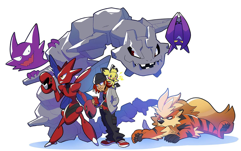Pokemon Trainer - Pokemon Trainer character with Pokemon Team!$65 for 1 trainer and +$5 - $20 per Pokemon.