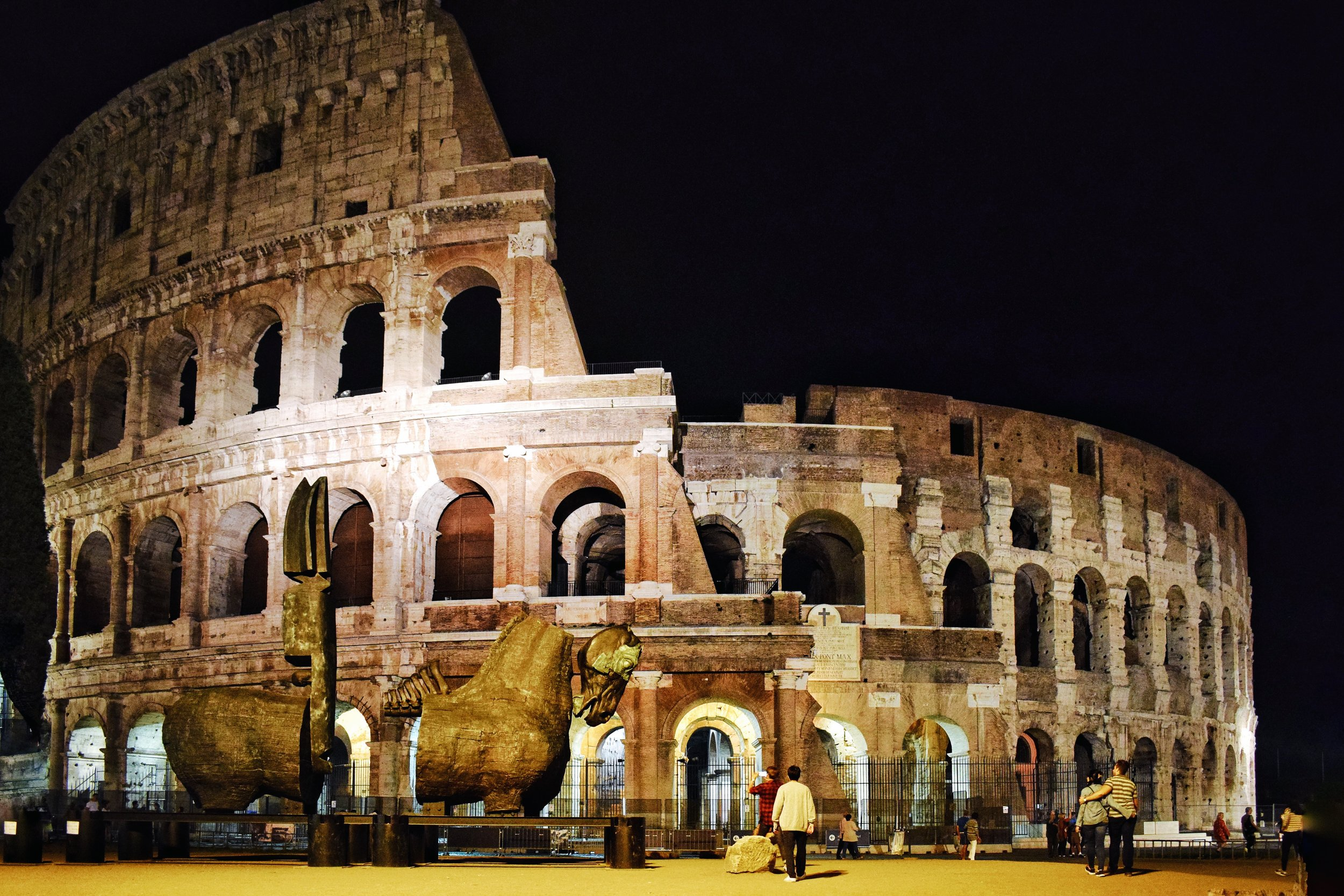 Colosseum-by-night-Rome-Brown-Leather-Book