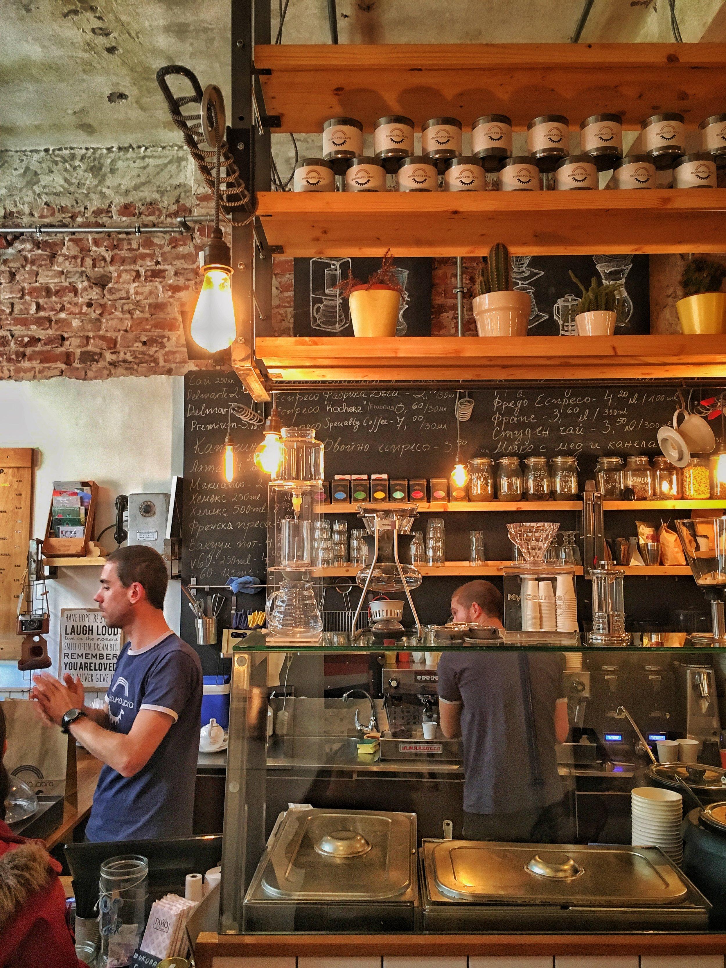 Cafe-Sofia-Bulgaria-Brown-Leather-Book
