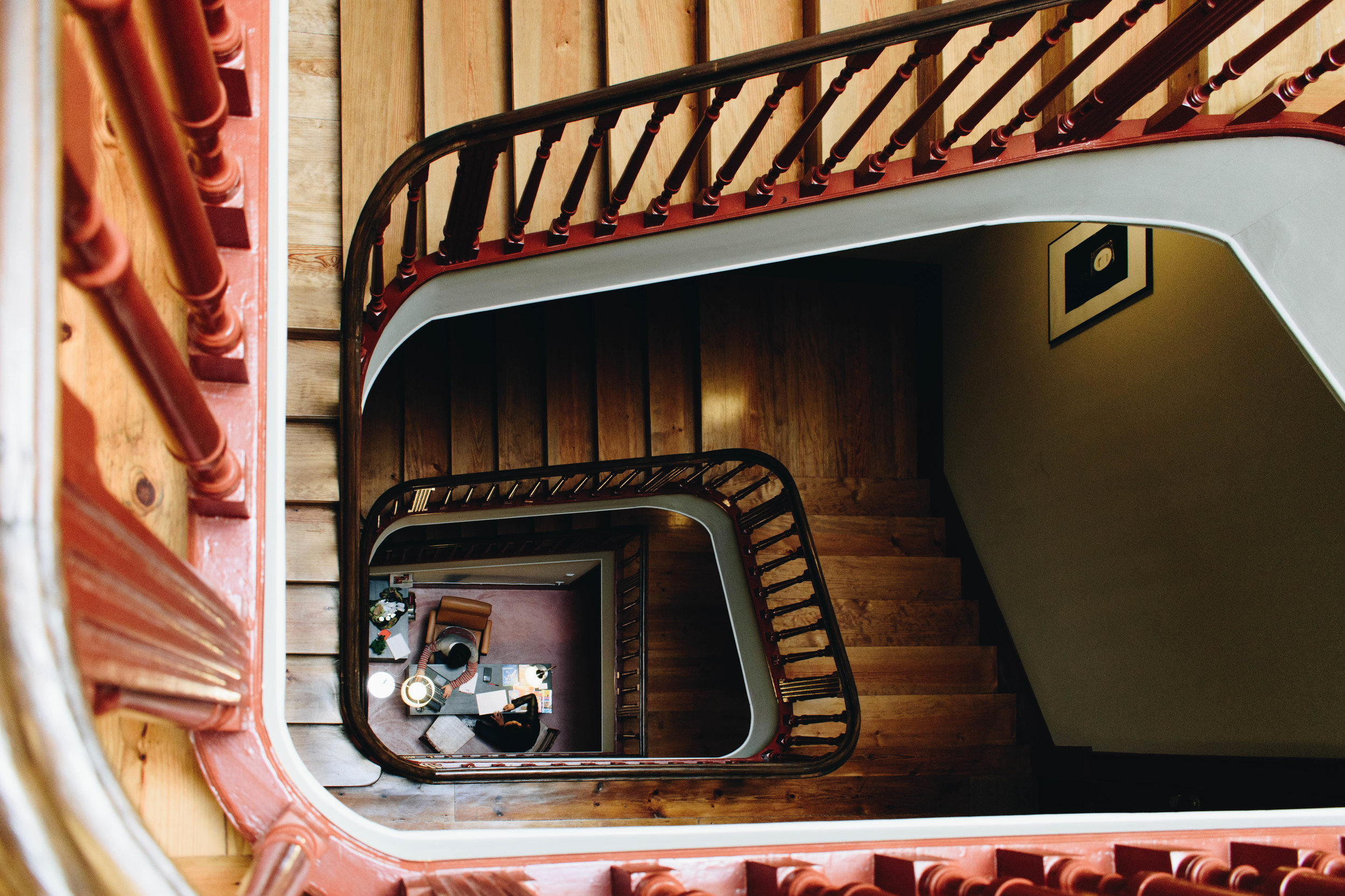 Staircase-Brown-Leather-Book