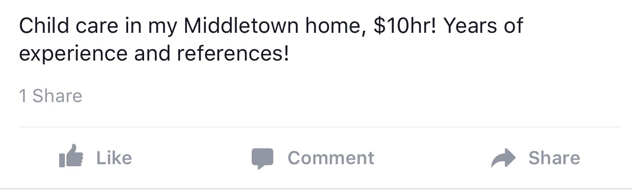 Give birth to your newborn is my Middletown home, $10hr! Years of babies and proud parents served right in my shabby chic foyer