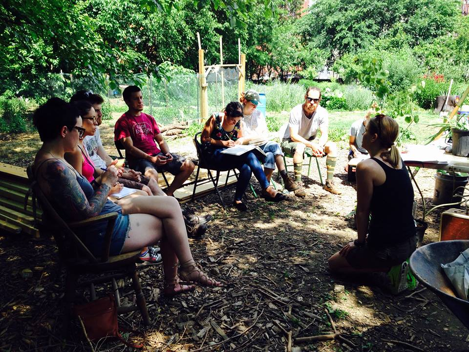 Fruit Tree Guild Workshop at Hidden Harvest Farm in Baltimore.