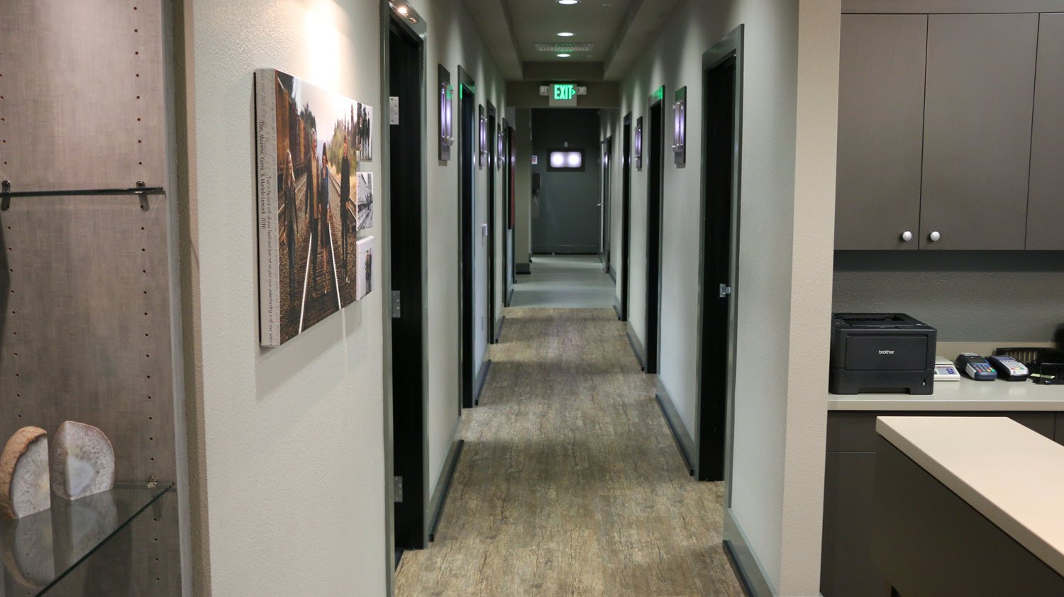 This is the hallway from the waiting room to our 'inner sanctum' where all the cool stuff happens.