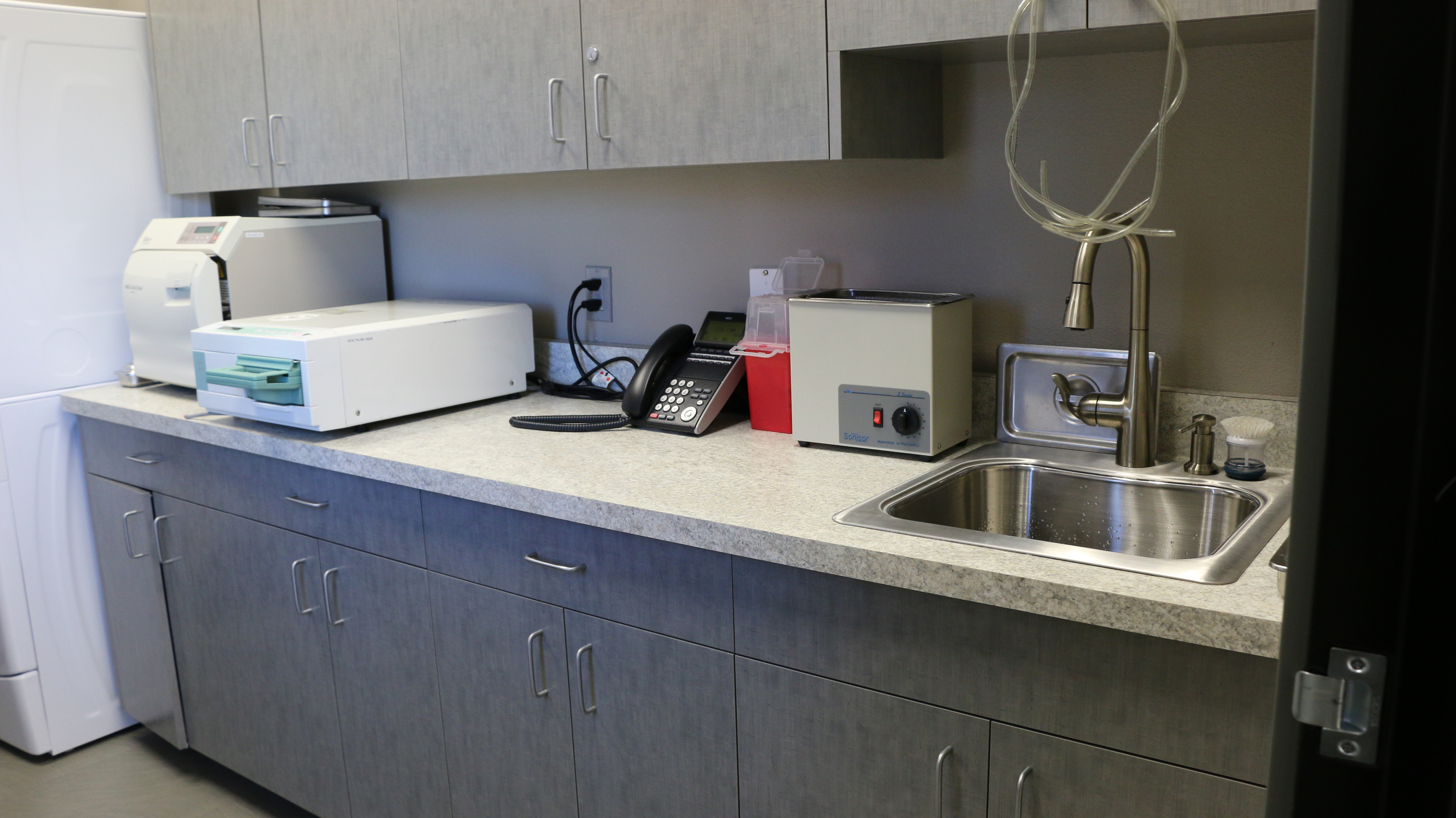 We take infection control seriously. We have an entire core area dedicated to instrument sterilization and sterile supplies.