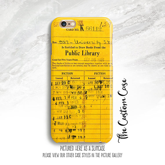 """Library """"Due Date Card"""" Phone Case"""