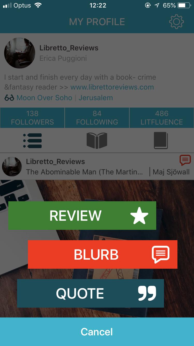 Review= Recensione Blurb= Commento Quote= Citazione