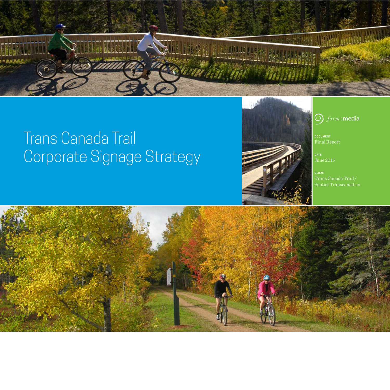 Trans Canada Trail Signage Strategy