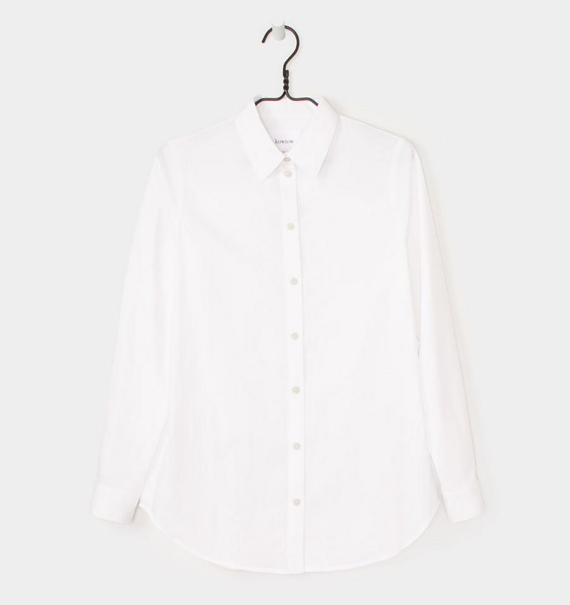 The classic white shirt by Kowtow. Something this simple has to be made well from the best ingredients - 100% ethical organic cotton twill. (I may possibly be going back for one in every colour) -
