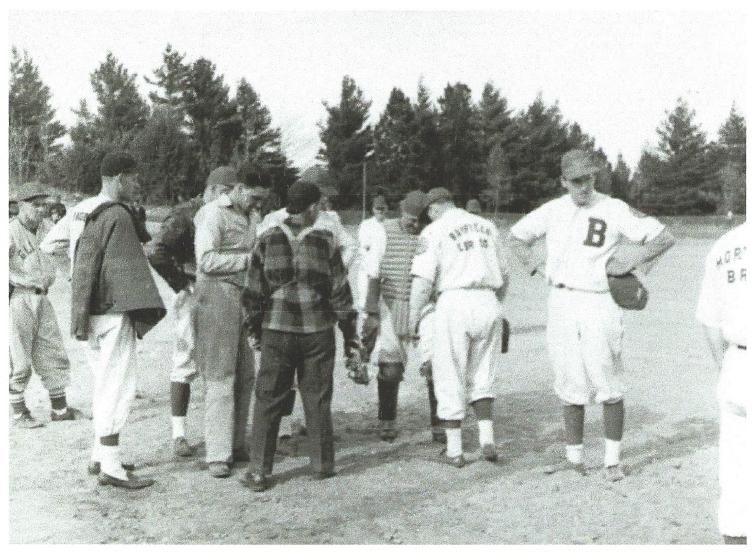 Baseball Game: Bayfield Lumber vs Morty's Bayfield Heritage Association, BHA 1980.60.14