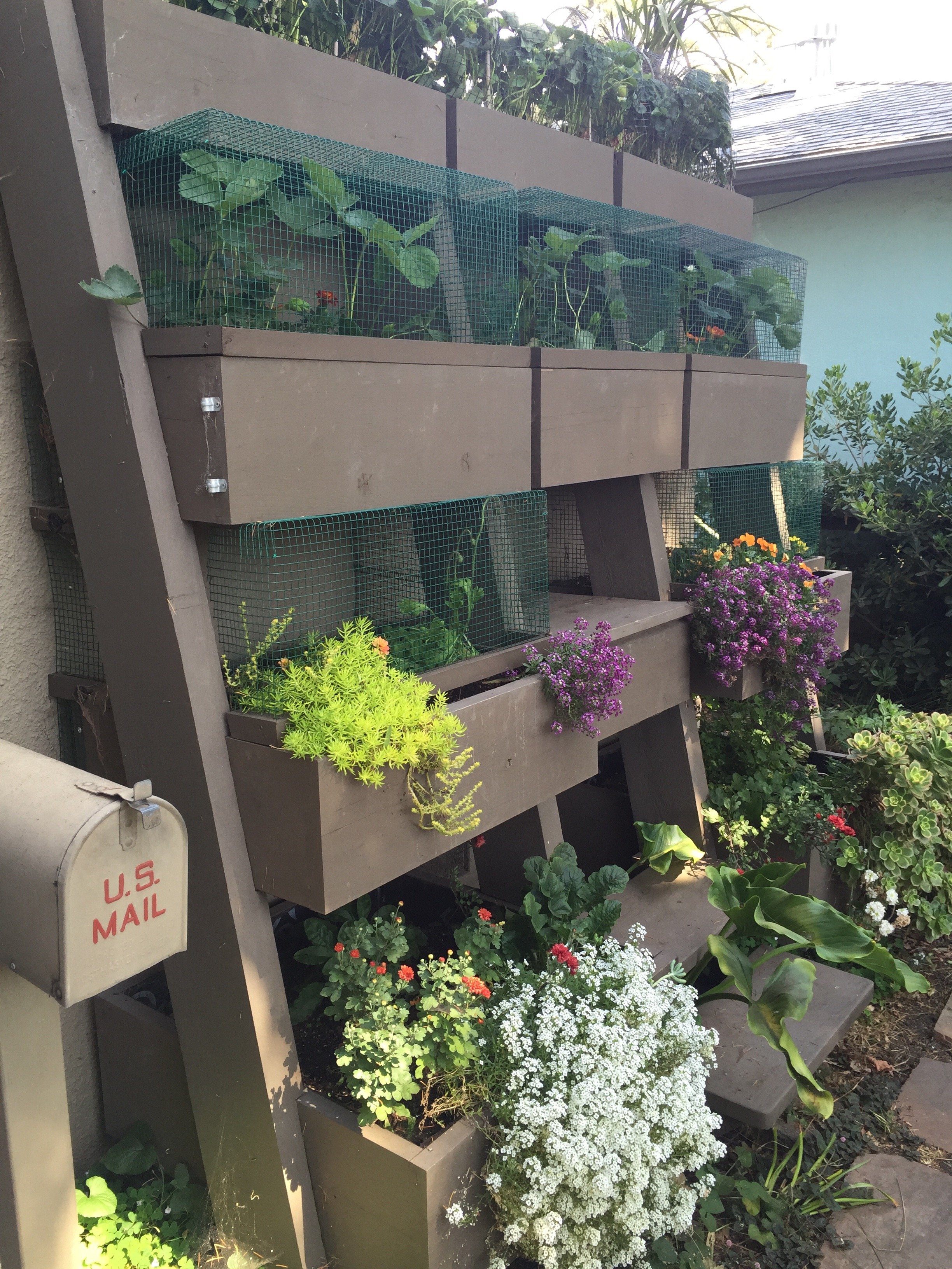 How about this cool vertical planter?