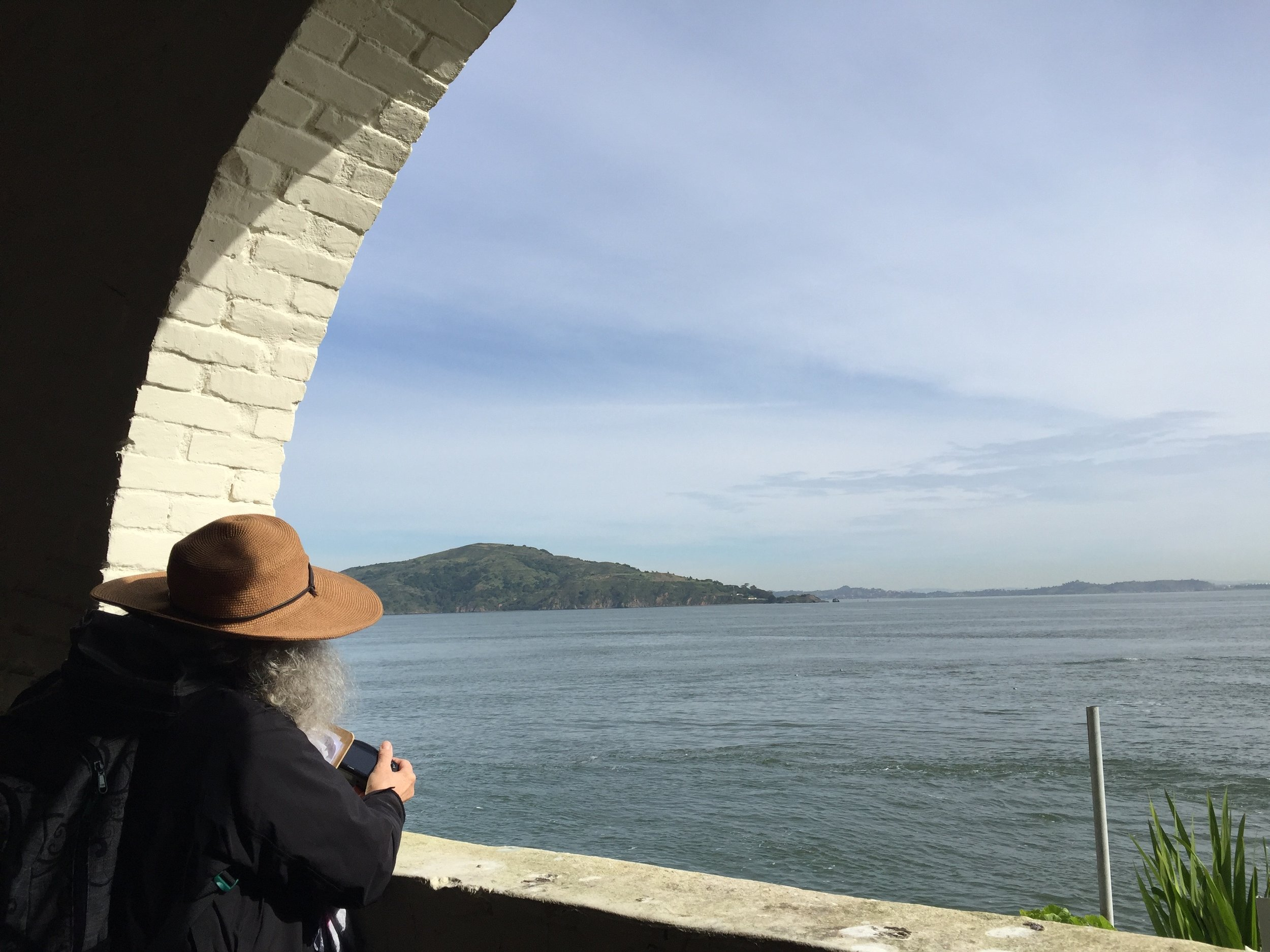 a classmate looking north towards Angel Island