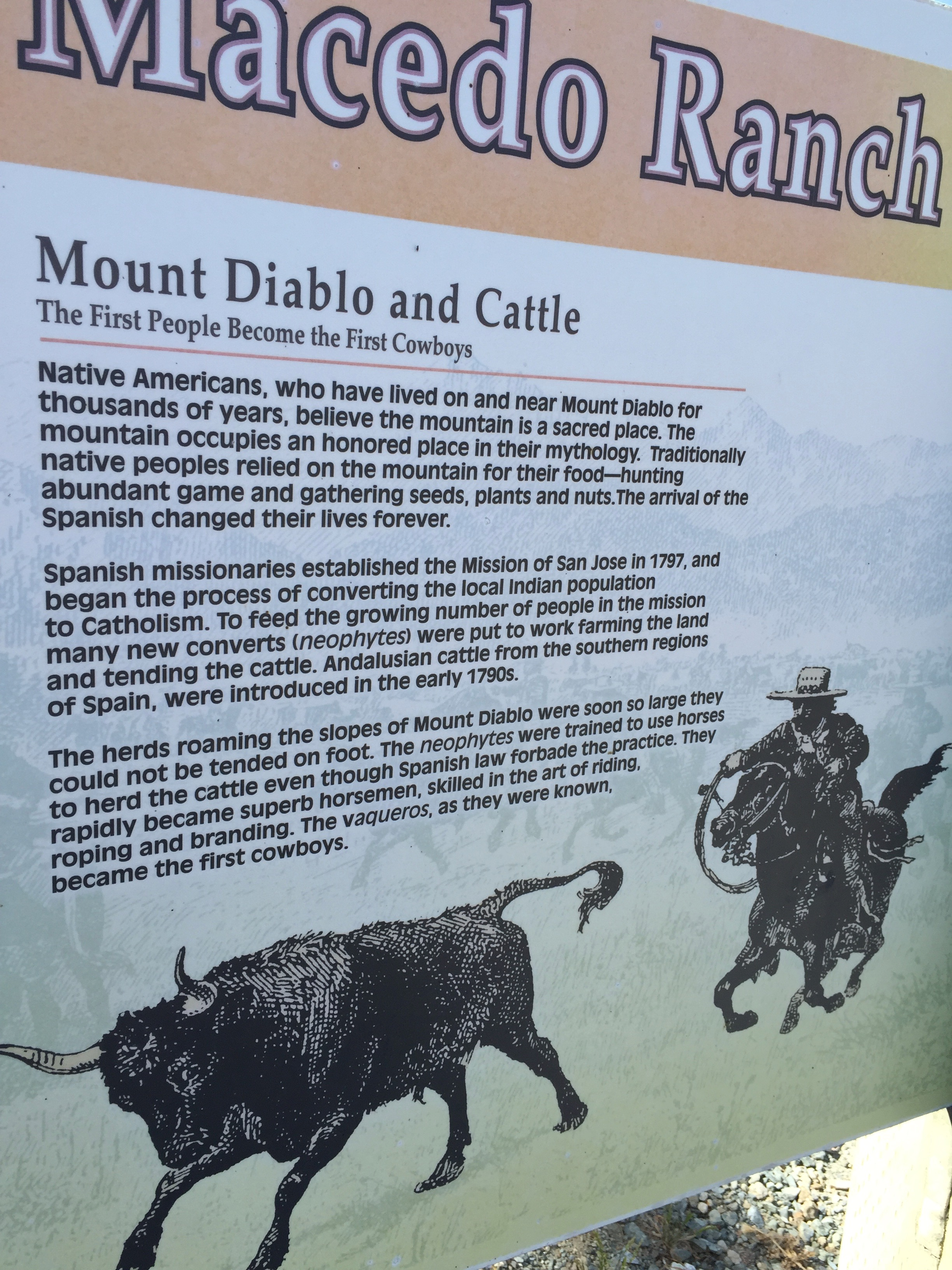 A sign at the trailhead
