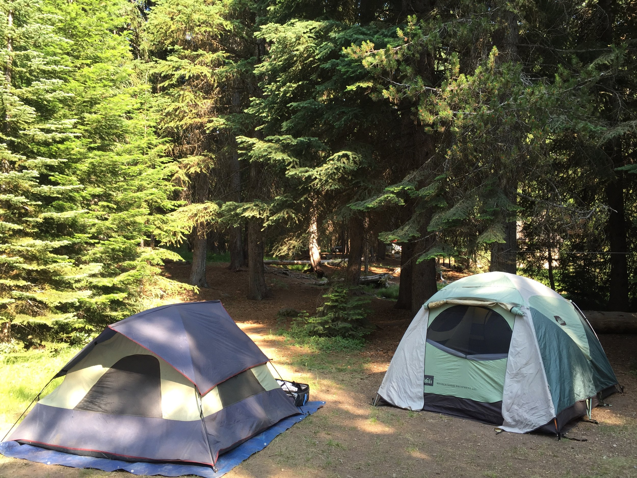 Campsite at Diamond Lake