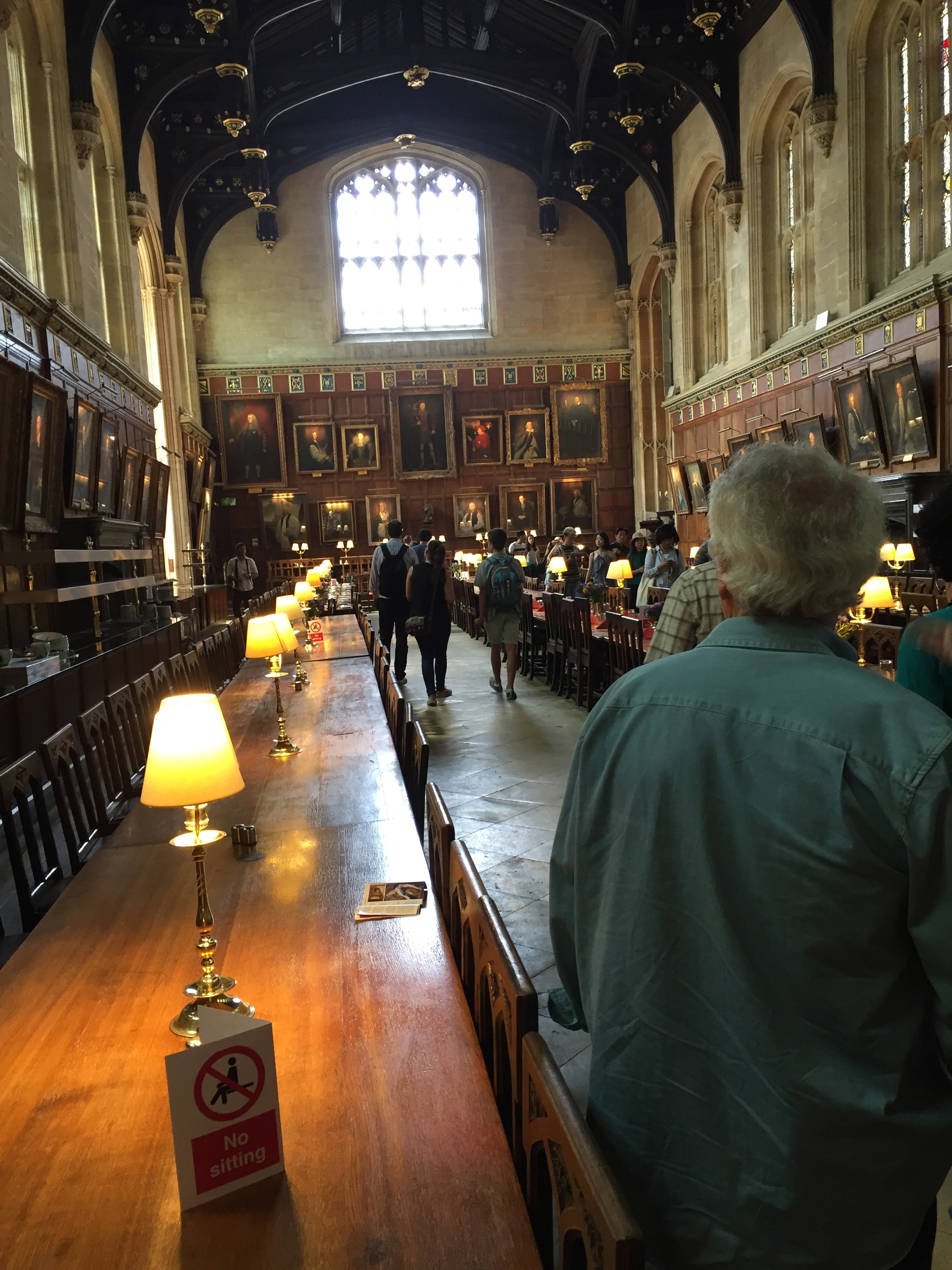 Feeling a bit like Harry Potter at the Great Hall at Christ Church (the inspiration for the Great Hall at Hogwarts)