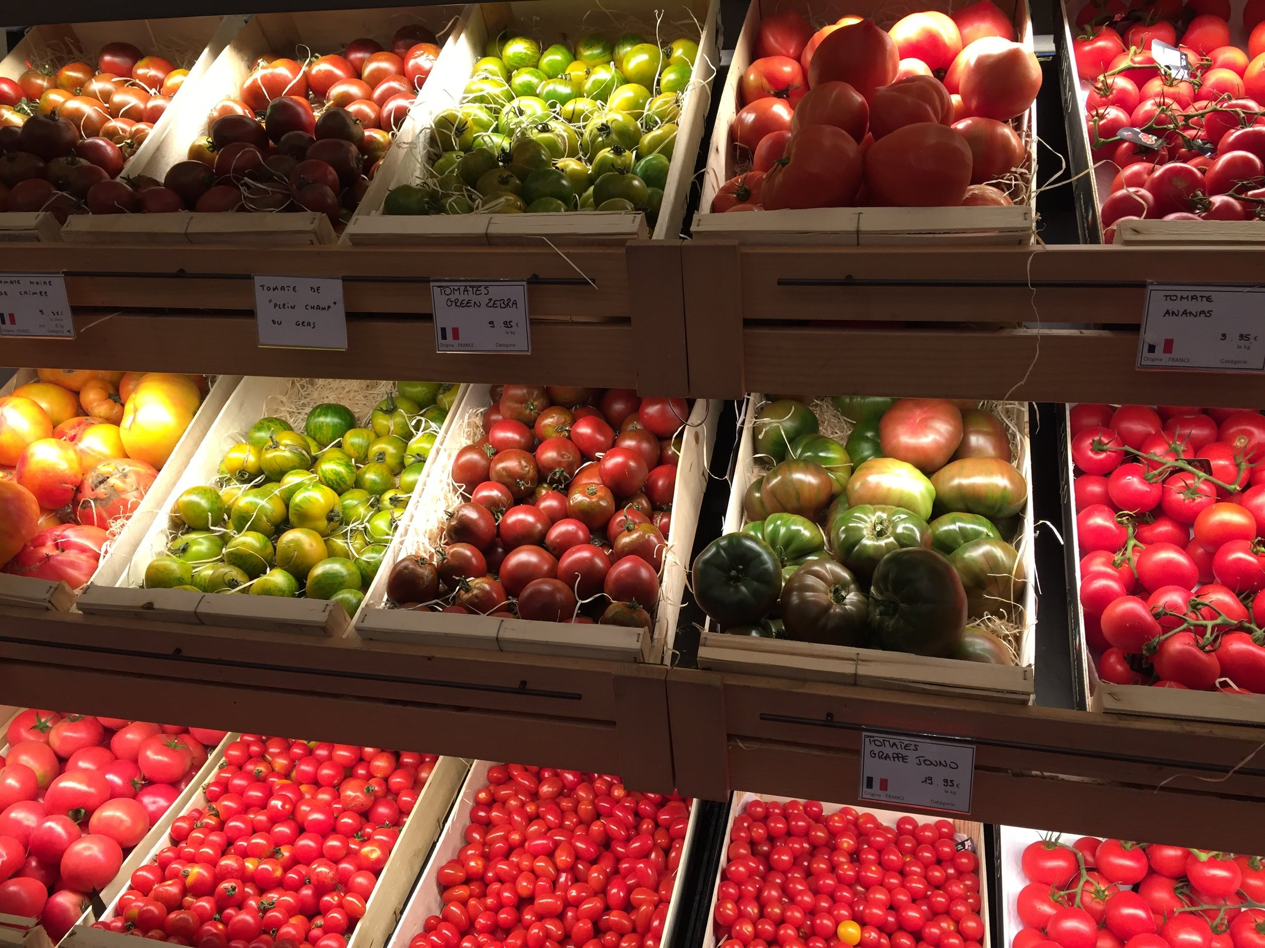 Tomatoes, variety names listed