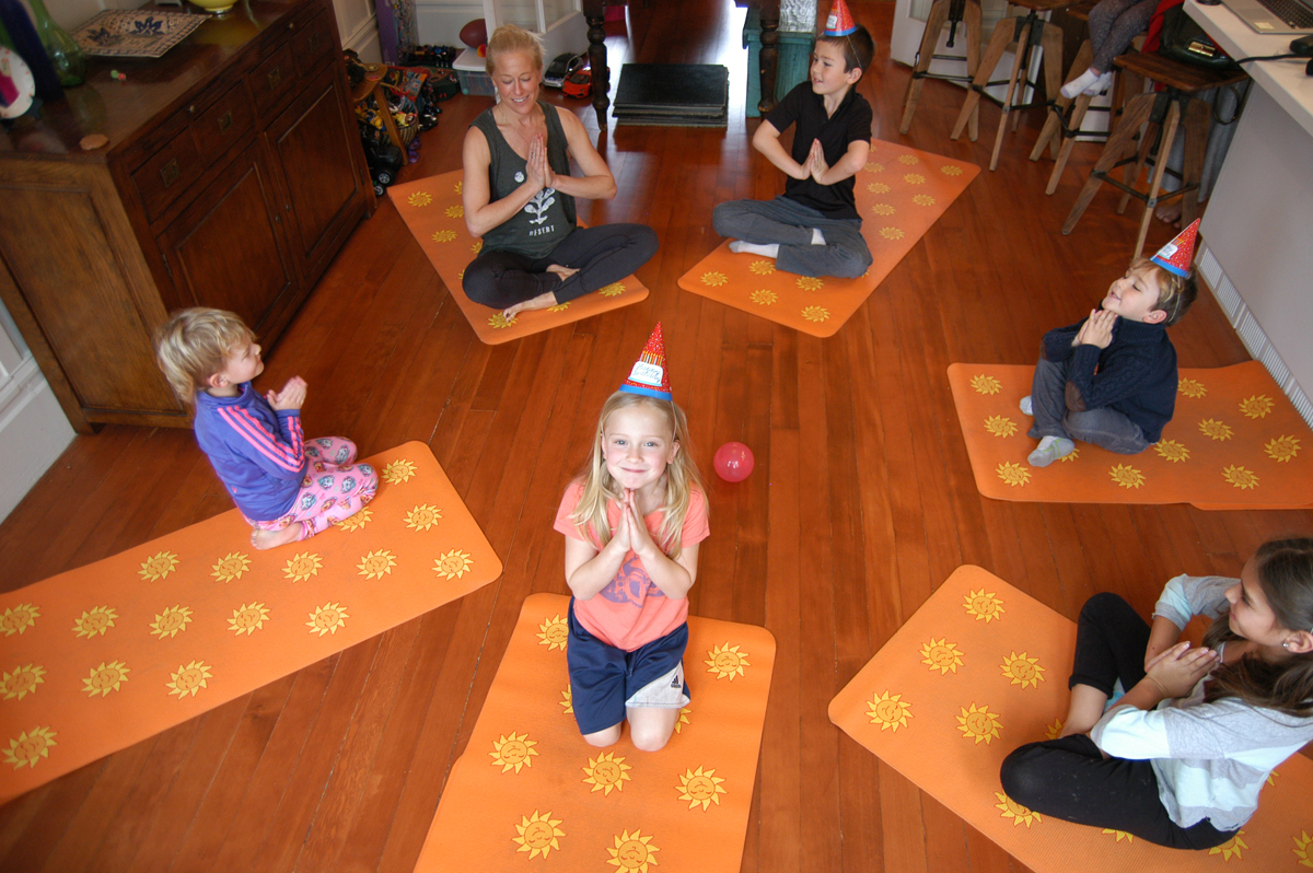 Kids yoga birthday party San Francisco