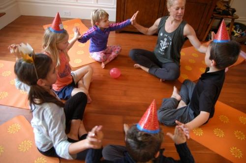 Kids yoga birthday parties San Francisco