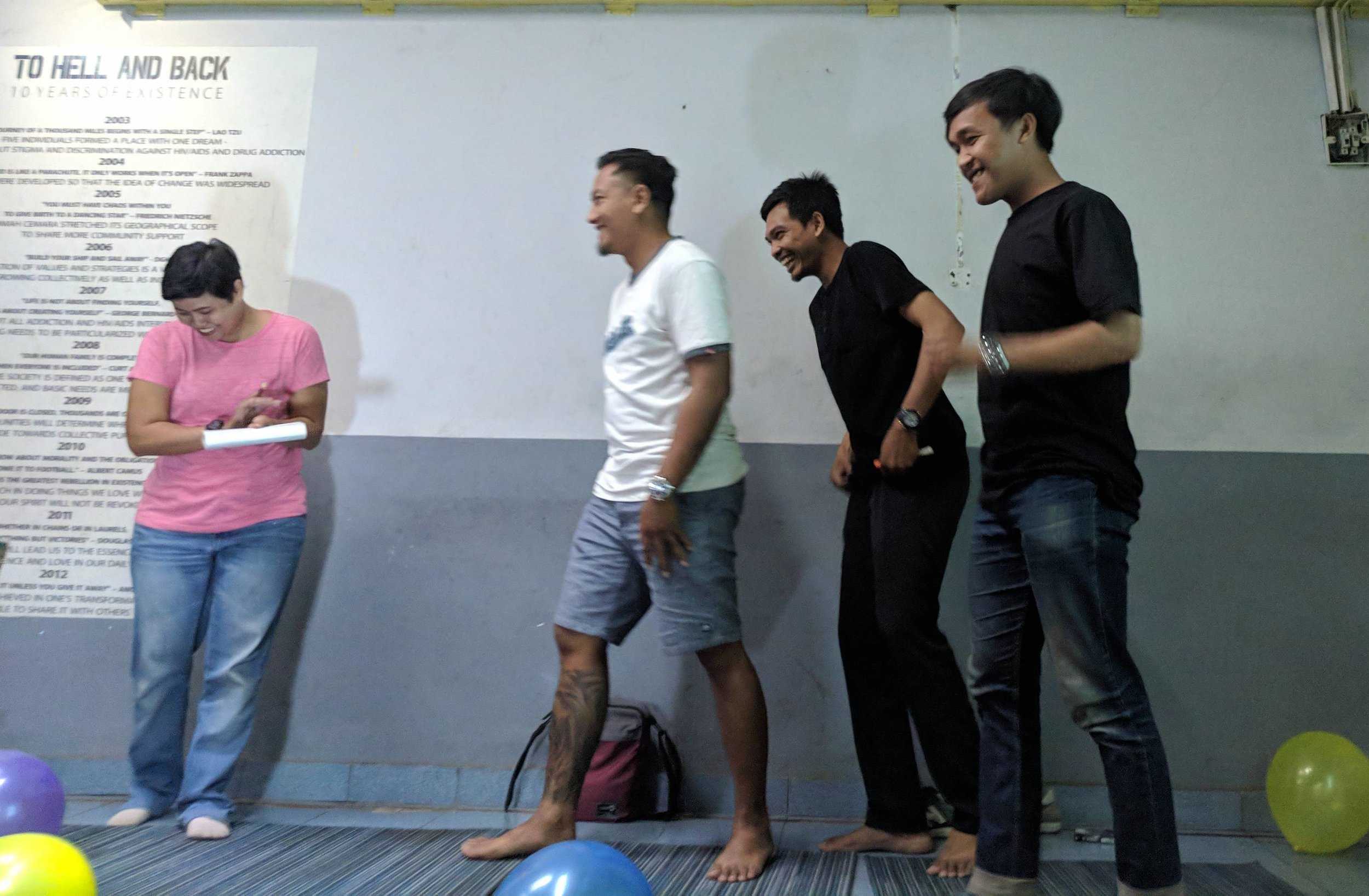 Fun with the team in Bandung, Indonesia 5-9-18