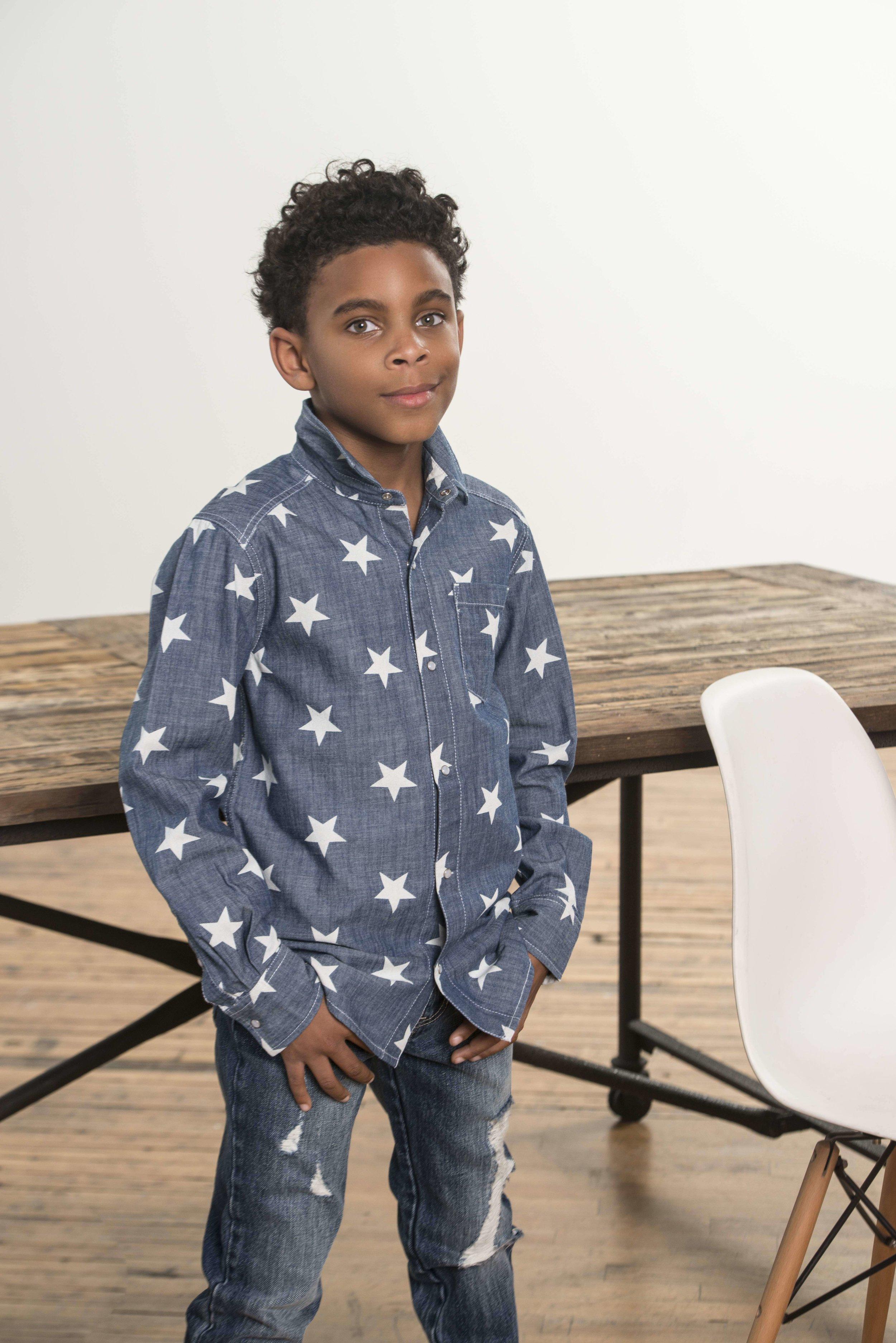 KB 376 Star Print Chambray Shirt.jpg
