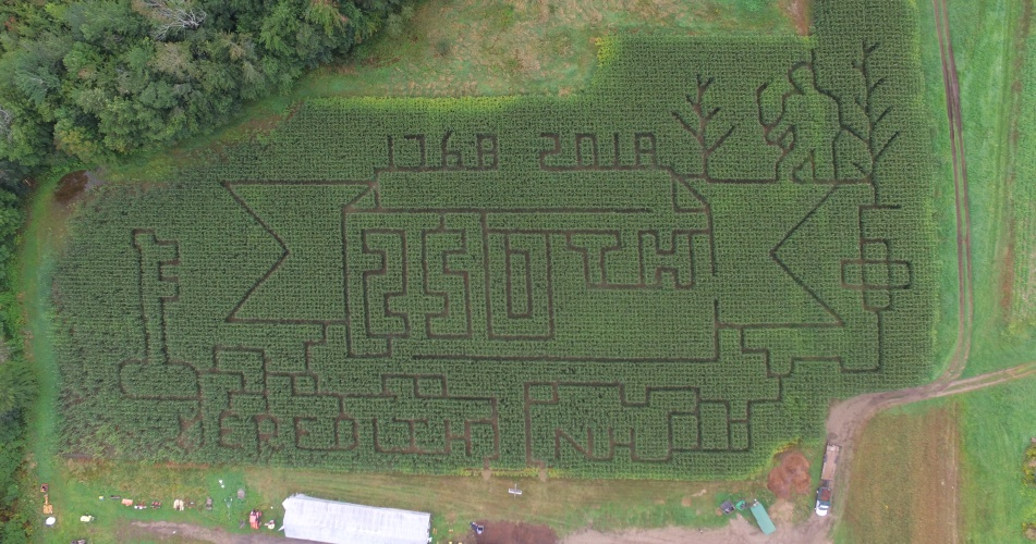 Corn Maze a Moulton Farm | A 250th celebration of Meredith, NH