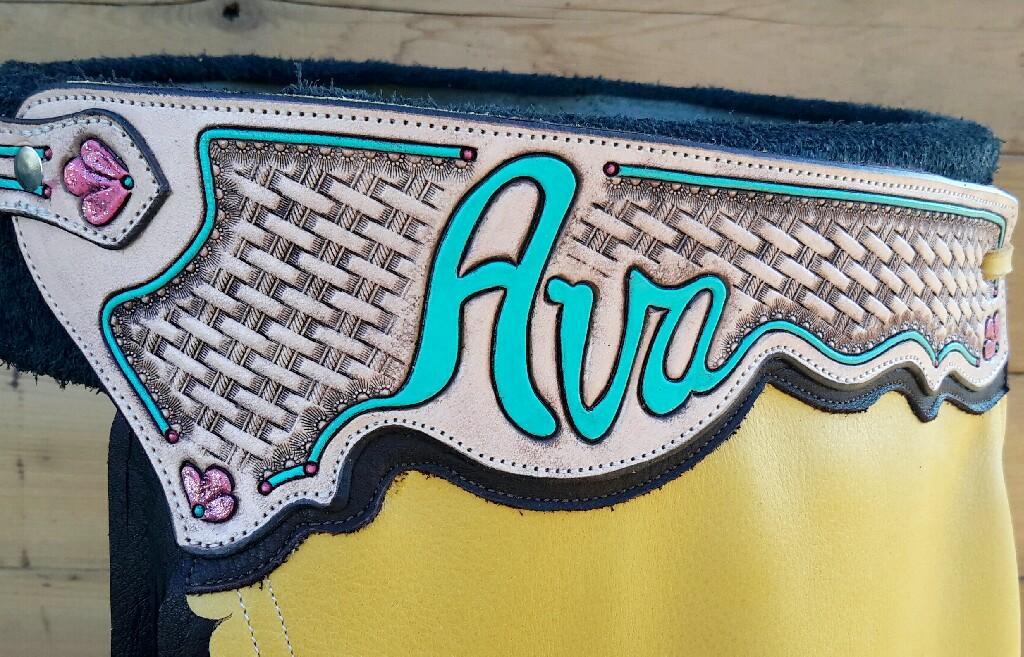 Ava's Chinks - Tooled Name